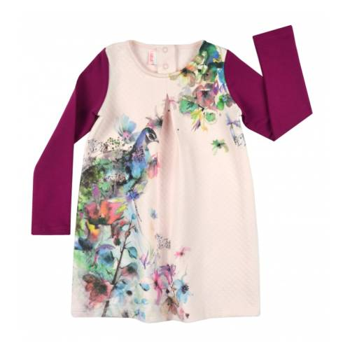 Tüdrukute kleit lilledega